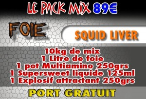 Pack mix Squid Liver