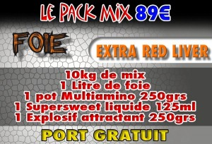 Pack mix Extra Red Liver