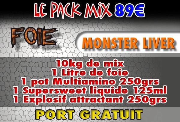 Pack mix Monster Liver